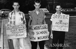 U.S. DESEGREGATION PROTEST
