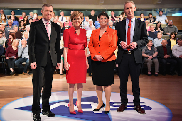 Scottish Party Leaders Participate In A Live STV Debate